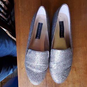 Steve Madden metallic loafers